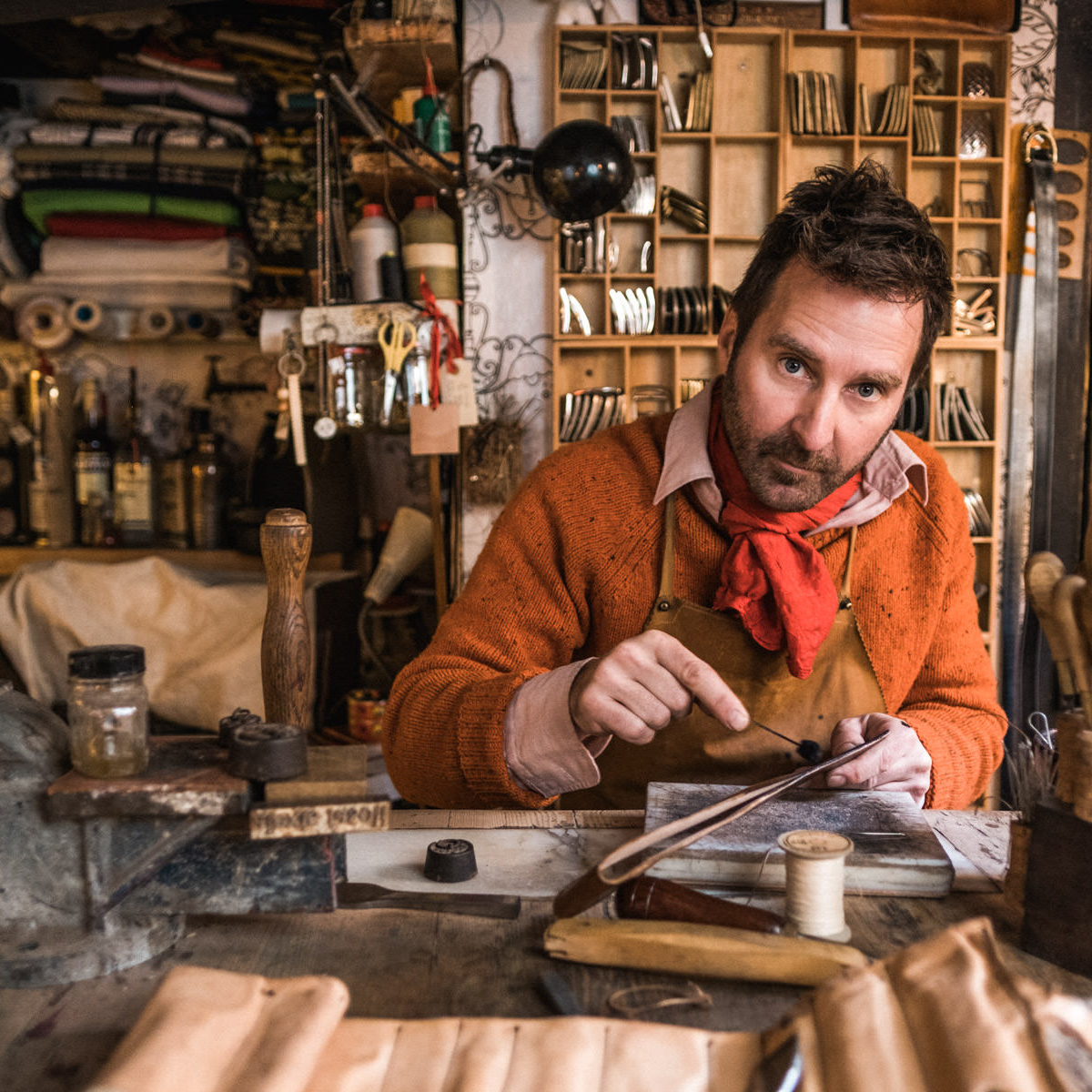Personal Branding Photography for Leather Artisan and Designer Alexis Fasoli, in Barcelona.