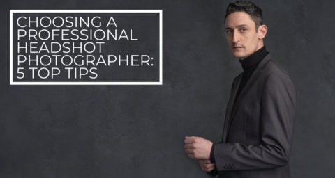 Professional headshot photographer blog banner