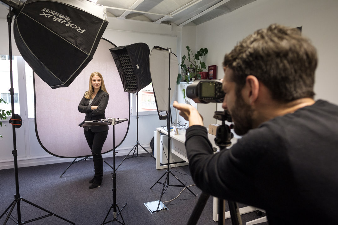 company photoshoot from your office with our portable studio
