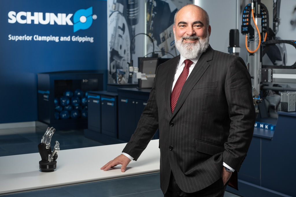 corporate photography of SCHUNK CEO Javier Garcia